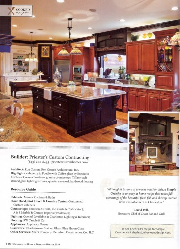 Charleston home design magazine priester 39 s custom for Charleston home design magazine