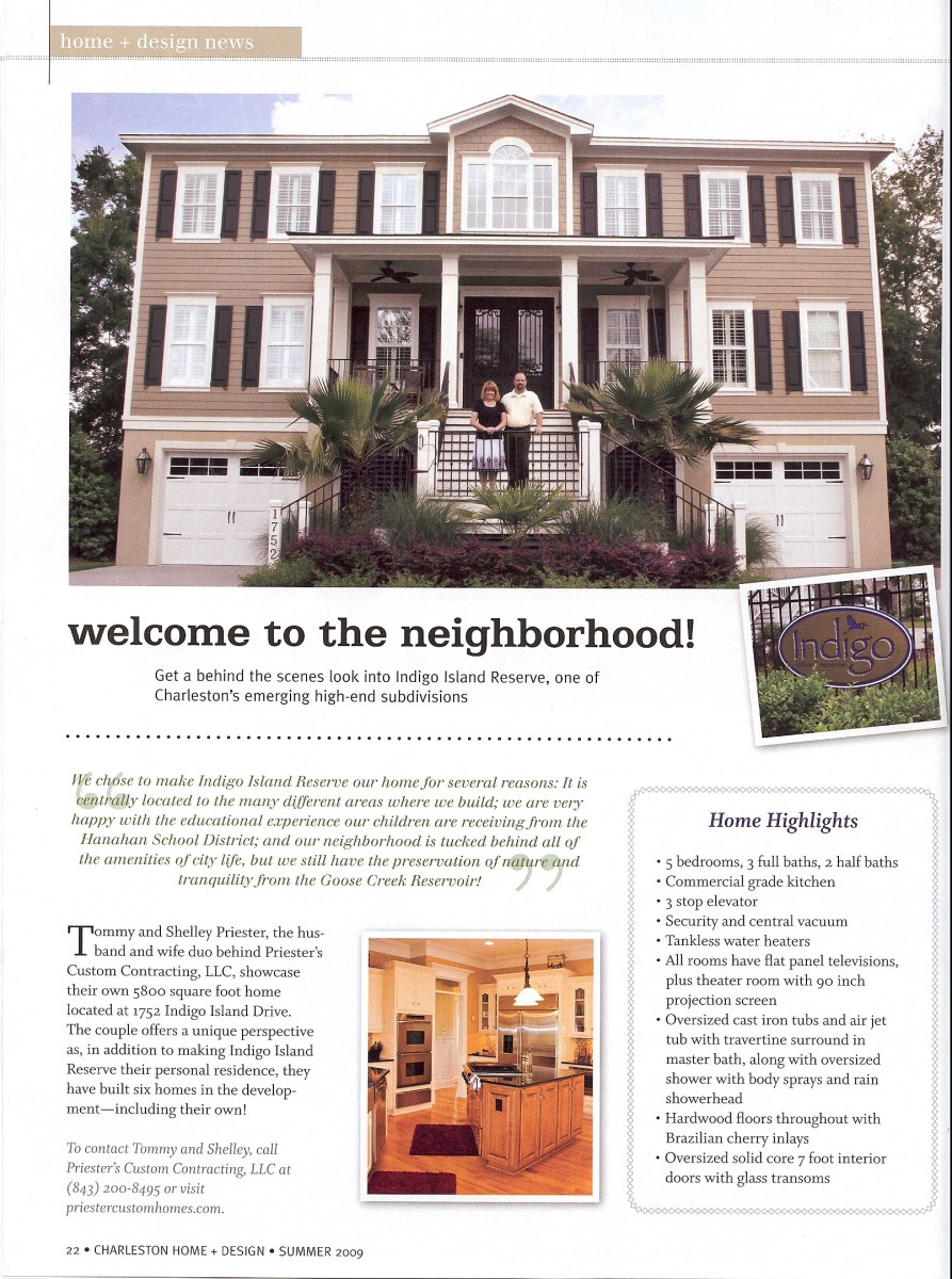Charleston Home + Design Magazine - Priester\'s Custom Contracting, LLC